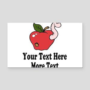Red Apple Teacher Rectangle Car Magnet