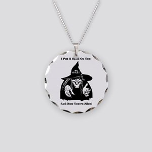 Witch Putting A Spell On You Necklace Circle Charm