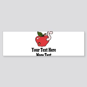 Red Apple Teacher Bumper Sticker