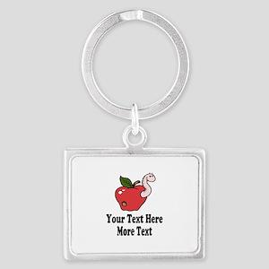Red Apple Teacher Keychains