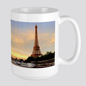 Eiffel Tower Sunset Large Mug Mugs