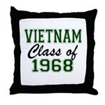 Vietnam Class of 1968 Throw Pillow