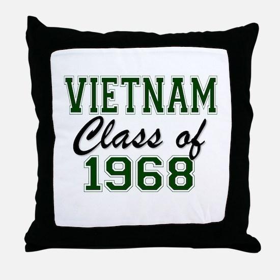 Vietnam Class of 1968 Throw Pillow