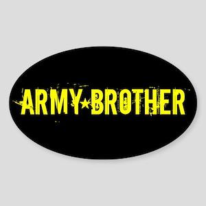 U.S. Army: Brother (Black & Gold) Sticker (Oval)
