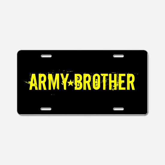 U.S. Army: Brother (Black & Aluminum License Plate