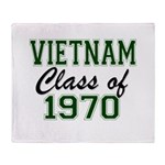 Vietnam Class of 1970 Throw Blanket