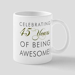 Celebrating 45 Years Drinking Glass Mugs