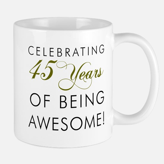 Celebrating 45 Years Drinking Glass Mugs