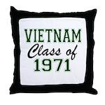 Vietnam Class of 1971 Throw Pillow