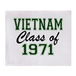 Vietnam Class of 1971 Throw Blanket