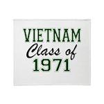 Vietnam Class of 1971 Throw Blanket