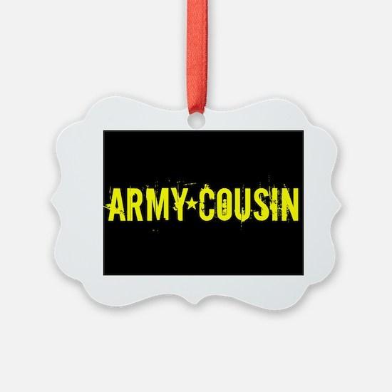 U.S. Army: Cousin (Black & Gold) Ornament