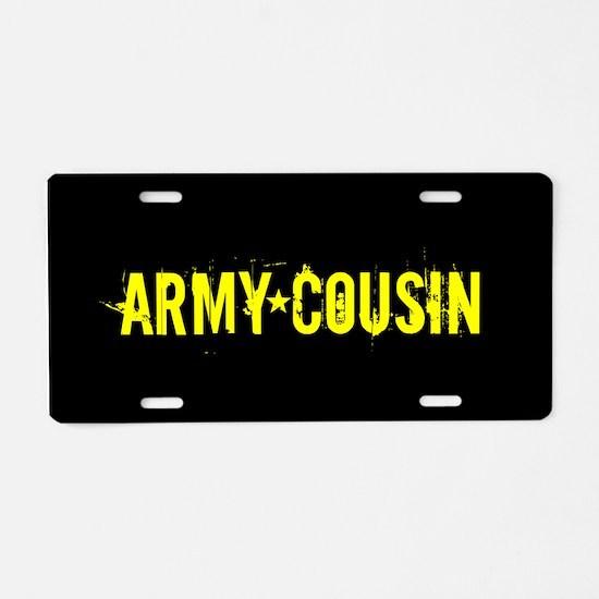 U.S. Army: Cousin (Black & Aluminum License Plate