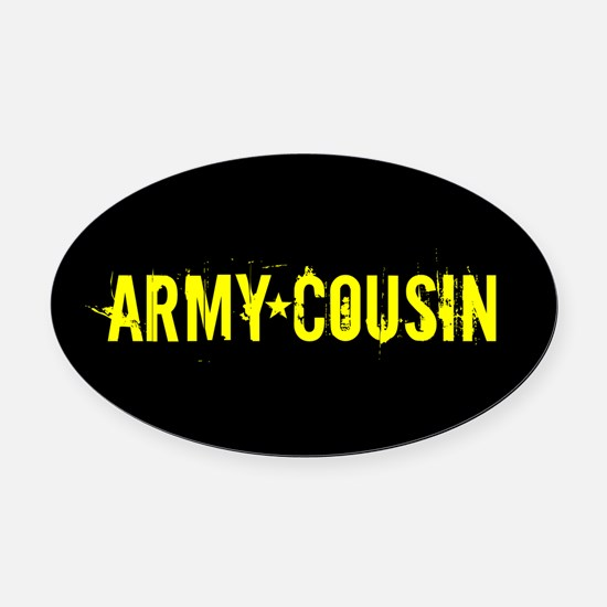 U.S. Army: Cousin (Black & Gold) Oval Car Magnet