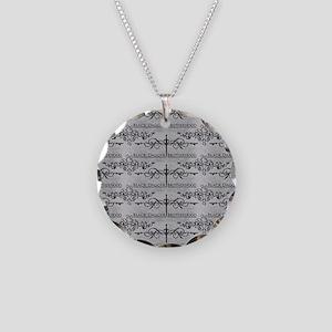 Black Dagger Brotherhood Necklace Circle Charm