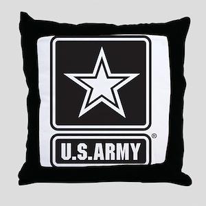 Army Black Star Logo Throw Pillow