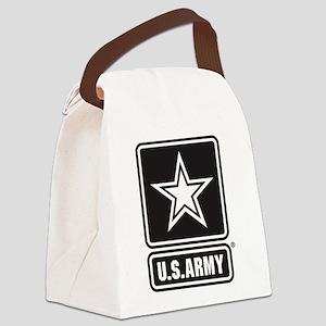 Army Black Star Logo Canvas Lunch Bag