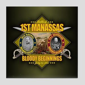 1st Manassas (battle)1 Tile Coaster