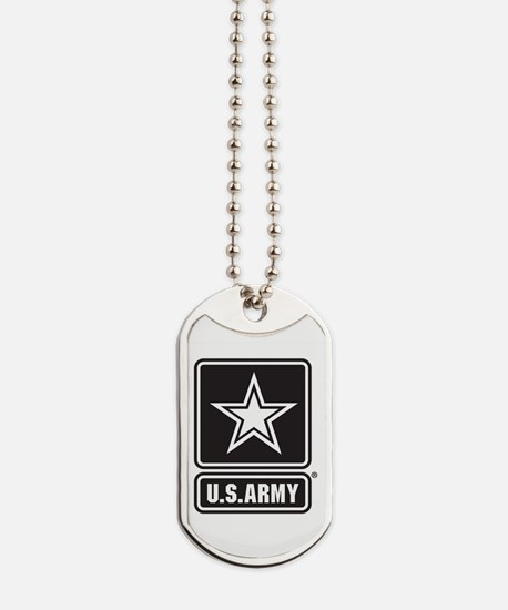 Army Black Star Logo Dog Tags