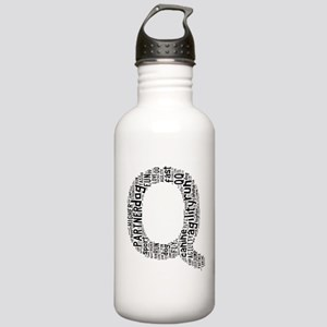 Black and Gray Q Water Bottle