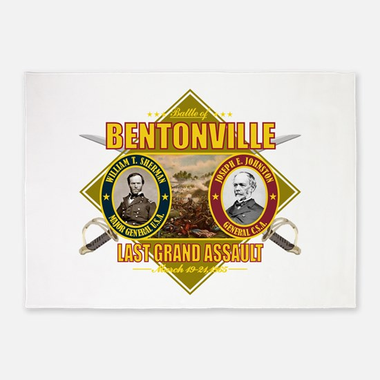 Bentonville (battle)1.png 5'x7'Area Rug