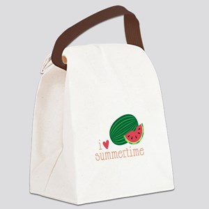 I Love Summertime Canvas Lunch Bag