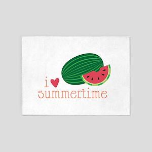 I Love Summertime 5'x7'Area Rug