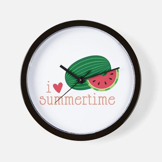 I Love Summertime Wall Clock