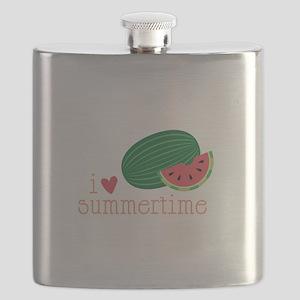 I Love Summertime Flask
