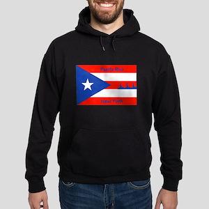 Puerto Rico New York Flag Lady Liberty Hoodie