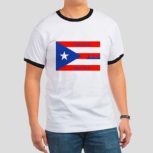 Puerto Rico New York Flag Lady Liberty T-Shirt