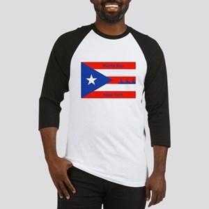 Puerto Rico New York Flag Lady Liberty Baseball Je