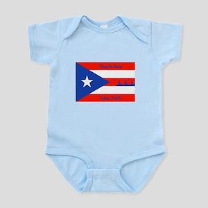 Puerto Rico New York Flag Lady Liberty Body Suit