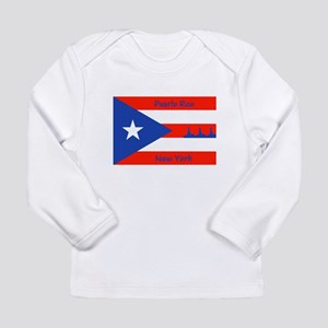 Puerto Rico New York Flag Lady Liberty Long Sleeve