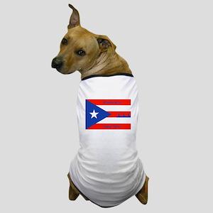 Puerto Rico New York Flag Lady Liberty Dog T-Shirt