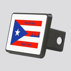 Puerto Rico New York Flag Lady Liberty Hitch Cover
