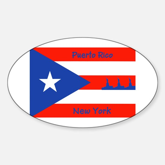 Puerto Rico New York Flag Lady Liberty Decal