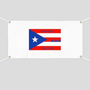 Puerto Rico New York Flag Lady Liberty Banner