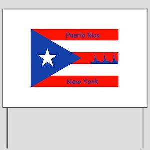 Puerto Rico New York Flag Lady Liberty Yard Sign