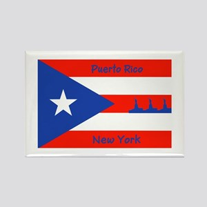 Puerto Rico New York Flag Lady Liberty Magnets