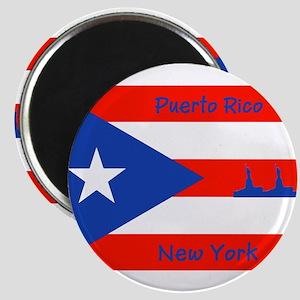 Puerto Rico New York Flag Lady Liberty Magnets