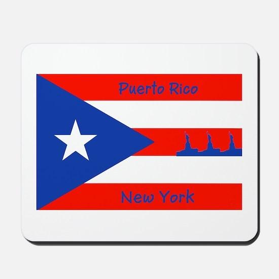 Puerto Rico New York Flag Lady Liberty Mousepad
