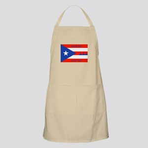 Puerto Rico New York Flag Lady Liberty Apron