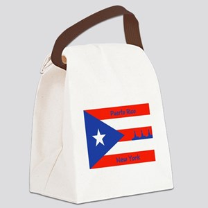 Puerto Rico New York Flag Lady Liberty Canvas Lunc