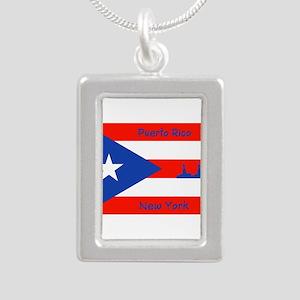 Puerto Rico New York Flag Lady Liberty Necklaces