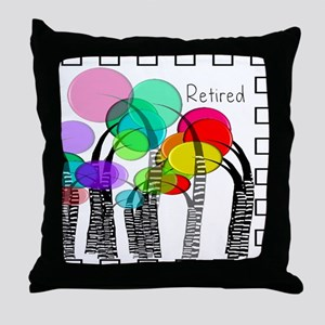 Retired 1 Throw Pillow