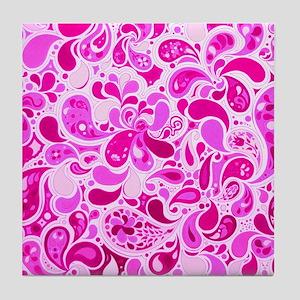 Pink Burst Tile Coaster