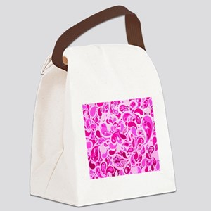 Pink Burst Canvas Lunch Bag