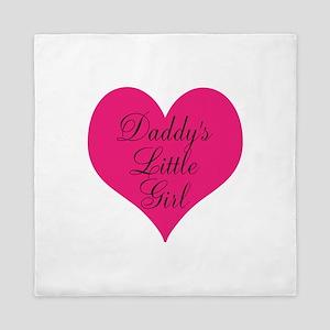 Daddys Little Girl Large Heart Queen Duvet