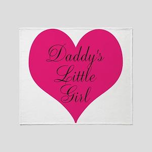 Daddys Little Girl Large Heart Throw Blanket